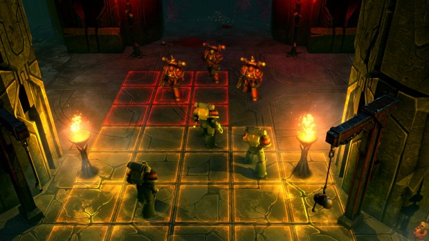 Warhammer 40,000: Space Wolf official screenshot of the turn-based combat