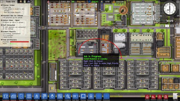 Prison Architect lets you follow your workers now