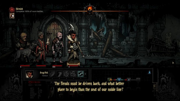 Darkest Dungeon has an amazing narrator