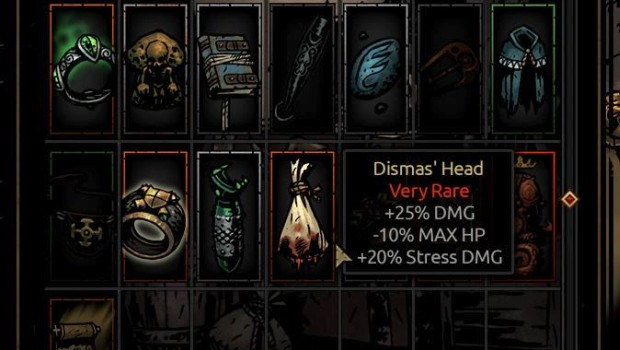Darkest Dungeon has some bizarre items