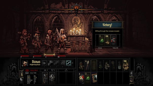 Darkest Dungeon a church that fell into ruin