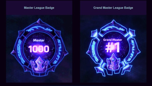 Grand Master and Master League badges