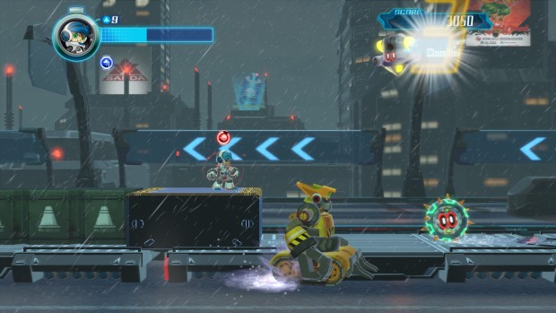 Mighty No. 9 screenshot from the beta version