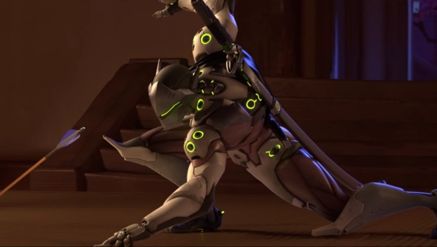 Genji from the Overwatch animated short Dragons