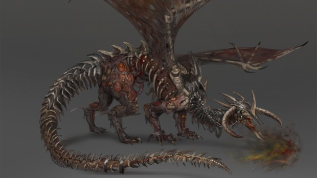 Total War: Warhammer's zombie dragon in its full glory