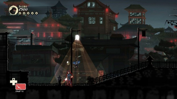 Screenshot from the PC version of Mark of the Ninja