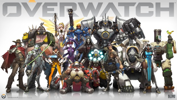 Official artwork showing all Overwatch heroes