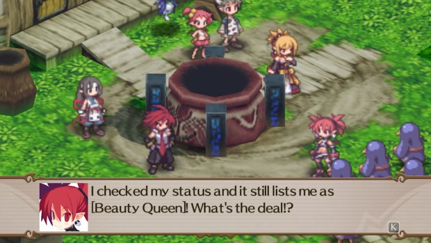 Disgaea 2 screenshot showing some character interaction