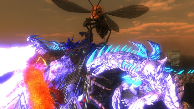 Earth Defense Force 4.1's giant lizards