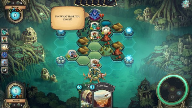 Faeria is a card/strategy game hybrid that features plenty of single player content