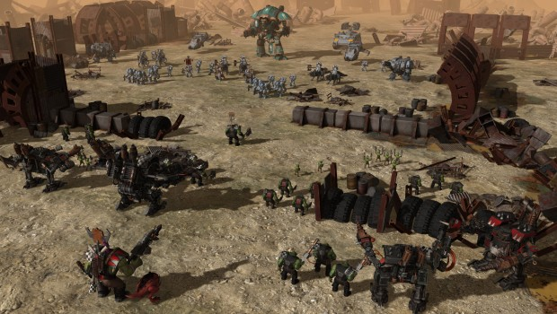 Warhammer 40k: Sanctus Reach screenshot showing a battle against the Orks