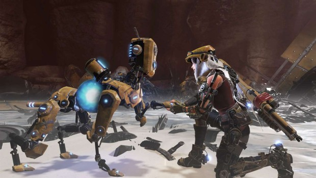 ReCore screenshot showing a robot dog