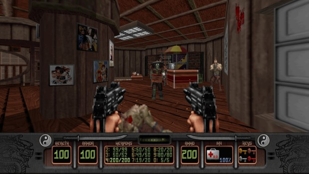 Shadow Warrior Redux screenshot showing dual pistols