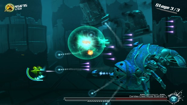 Stardust Galaxy Warriors' Abyss Guardian boss fight screenshot