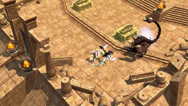 Titan Quest Anniversary Edition screenshot of the desert zone