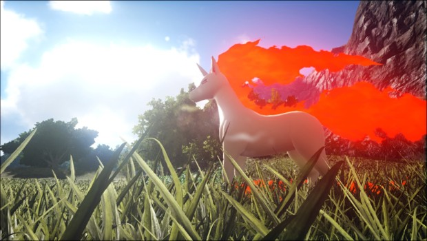 Rapidash from Ark: Survival Evolved's Pokemon Evolved mod