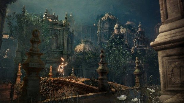 Dark Souls 3: The Ringed City screenshot showing some gorgeous enviroments