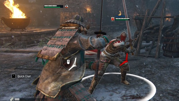 Screenshot showing For Honor's combat mechanics