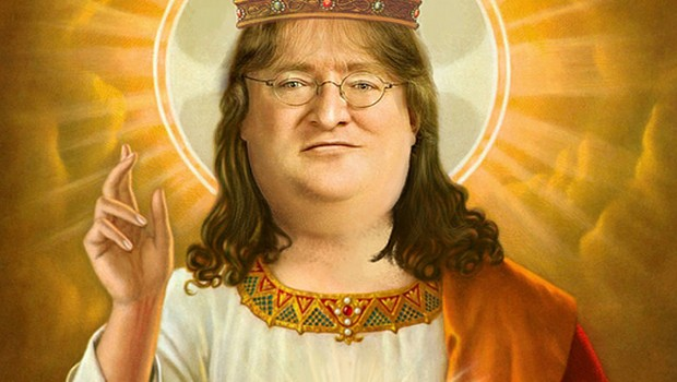 Gabe Newell in all of his glory