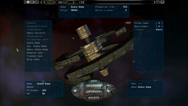 Imperium Galactica 2 screenshot showcasing a space station
