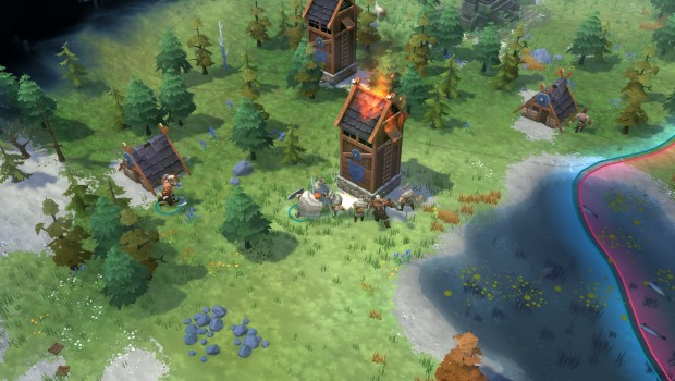 Northgard screenshot featuring RTS combat
