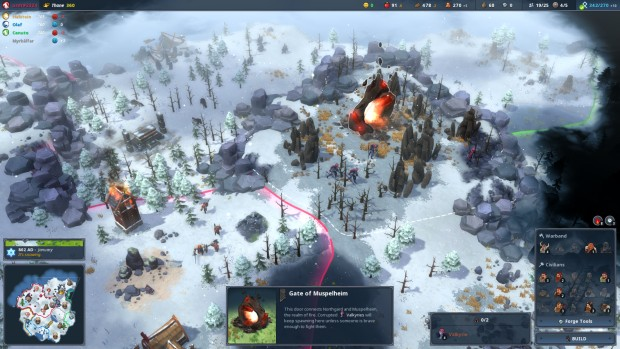 Northgard screenshot featuring the Gates of Muspelheim