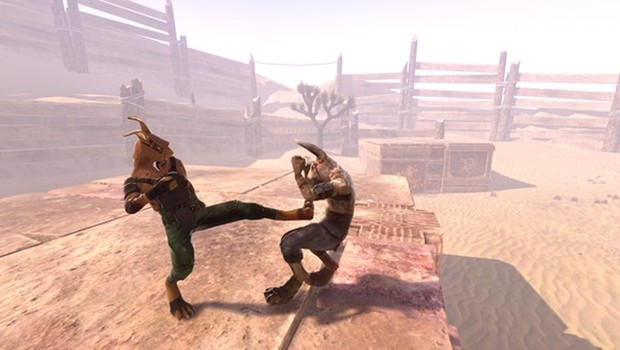 Overgrowth screenshot featuring two bunnies dueling