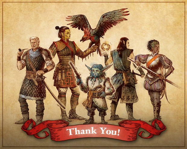 Pillars of Eternity 2 official thank you artwork from Obsidian's team