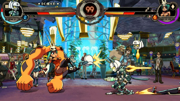 Skullgirls Second Encore+ screenshot of Cerebella and Fortune
