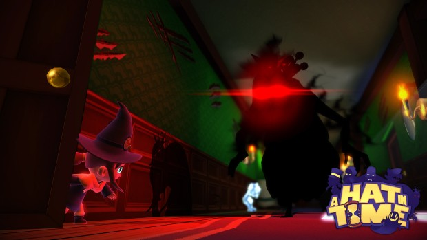 A Hat in Time screenshot of a rather scary shadow monster