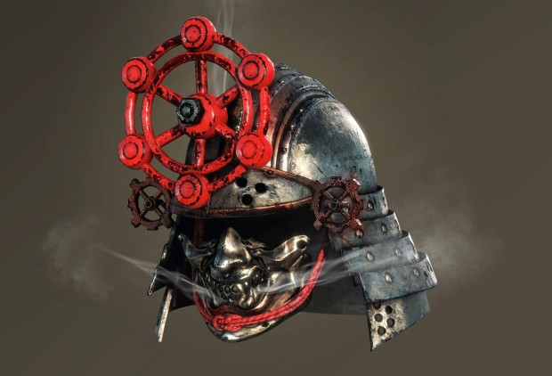 Nioh screenshot of a Valve themed helmet blowing out Steam