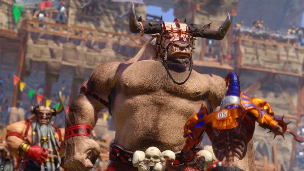 Blood Bowl 2 screenshot of a Chaos Dwarf centaur