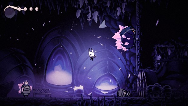 Hollow Knight screenshot showcasing some atmospheric level design