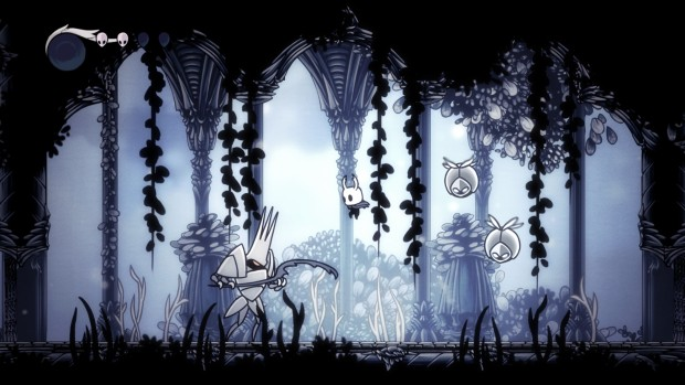 Hollow Knight screenshot featuring the white palace