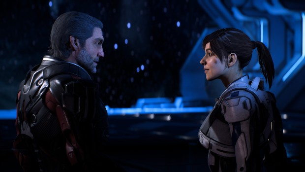 Mass Effect Andromeda screenshot of a conversation between two pathfinders