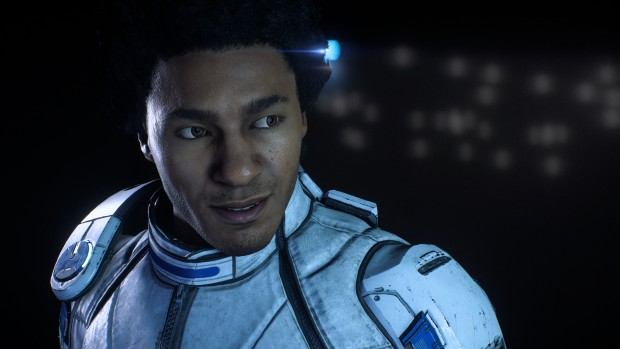 Mass Effect Andromeda screenshot of the male human companion