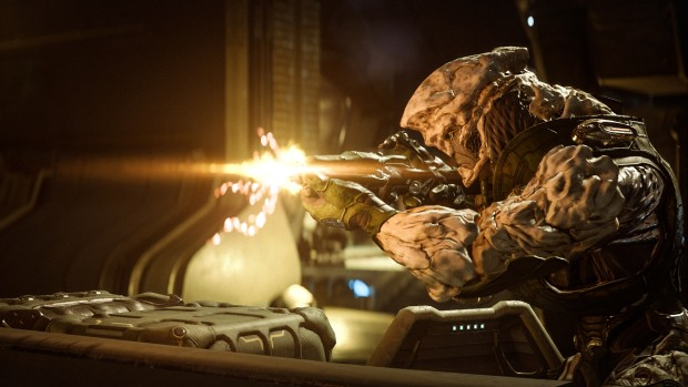 Mass Effect: Andromeda screenshot of a new alien