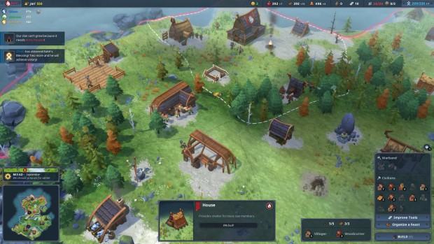 Northgard screenshot of a well-developed base