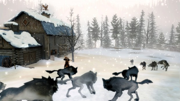 Sang-Froid: Tales of Werewolves gameplay screenshot showing a bunch of wolves