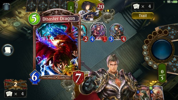 Shadowverse screenshot of the Dragoncraft deck