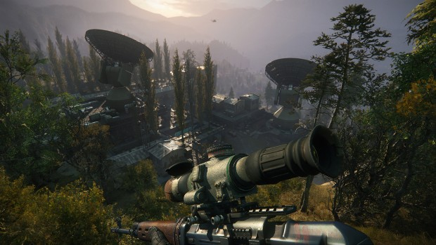 Sniper Ghost Warrior 3 screenshot of our character overlooking the radar array