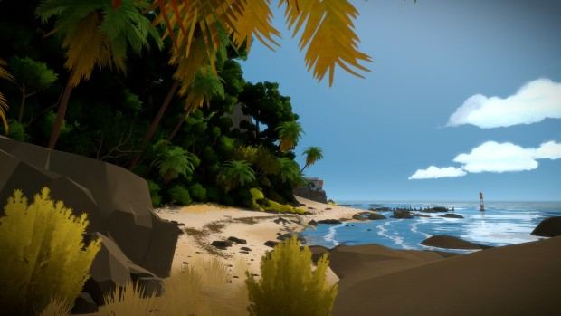 The Witness screenshot showcasing a lovely beach