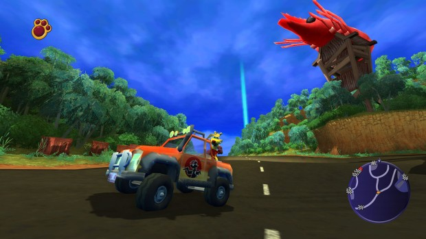 Ty the Tasmanian Tiger 2: Bush Rescue screenshot of some truck driving