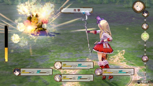 Atelier Firis screenshot of the combat system