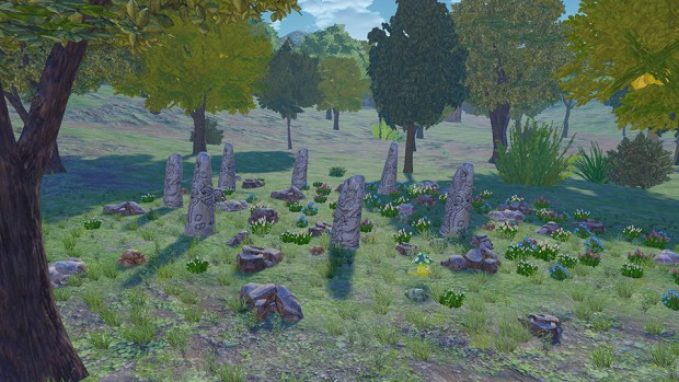 Atelier Firis screenshot of ancient runestones