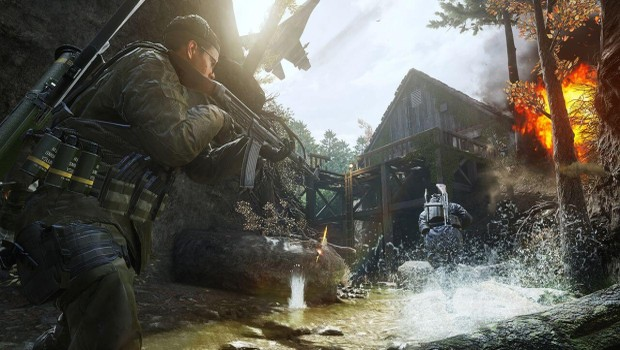 Call of Duty: Modern Warfare Remastered screenshot of the Creek map