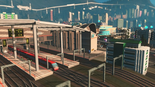 Cities: Skylines Mass Transit train-yard screenshot