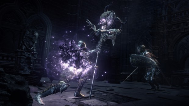 Dark Souls 3 The Ringed DLC screenshot of a Crucifix weapon