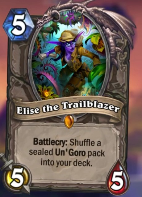 Hearthstone Journey to Un'Goro Elise the Trailblazer card