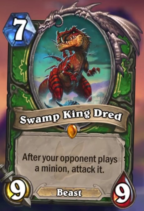 Hearthstone A Journey to Un'Goro Swamp King Dred card